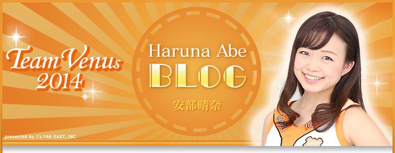 2014 team venus 安部晴奈 ブログ